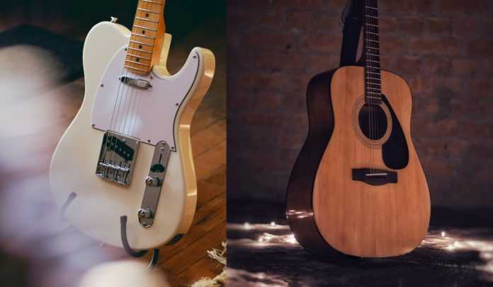 acoustic vs electric guitar for beginners