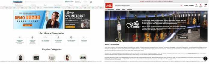 Sweetwater vs Guitar center
